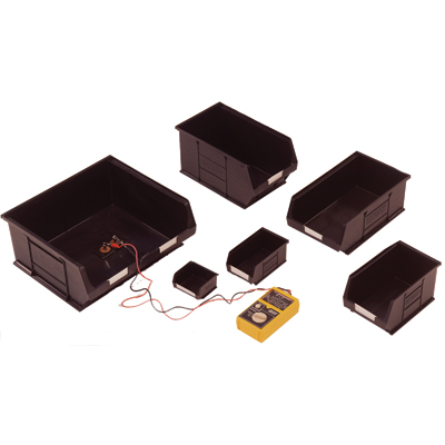 black conductive container 50 x 100 x 90 mm