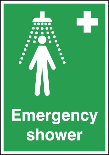 A3 Emergency Shower Safety Labels