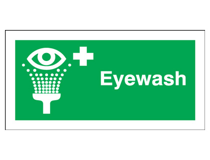 100 x 250 mm eyewash anti glare 2 mm plastic