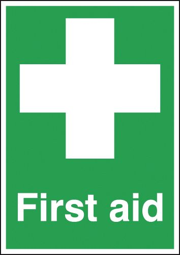 A2 first aid self adhesive vinyl labels.