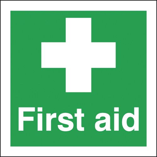 first aid box labels - 150 x 150 mm first aid self adhesive vinyl labels.