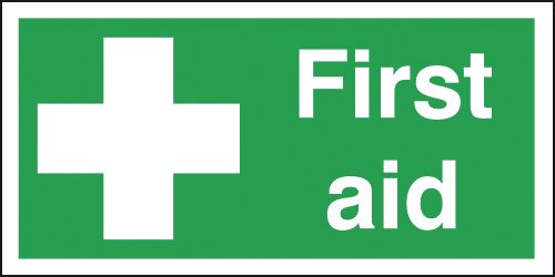 first aid box labels - 100 x 250 mm first aid self adhesive vinyl labels.