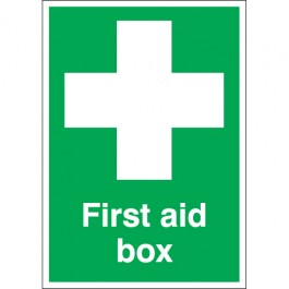 A2 first aid box self adhesive vinyl labels.