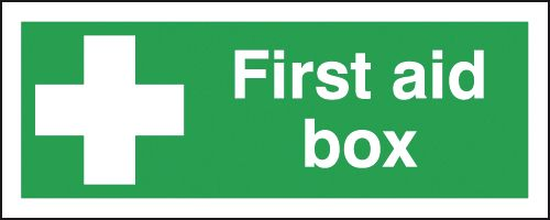first aid box labels - 100 x 250 mm first aid box self adhesive vinyl labels.