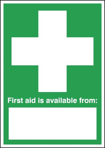 A1 first aid is available from polyprop rigid plastic 3 mm