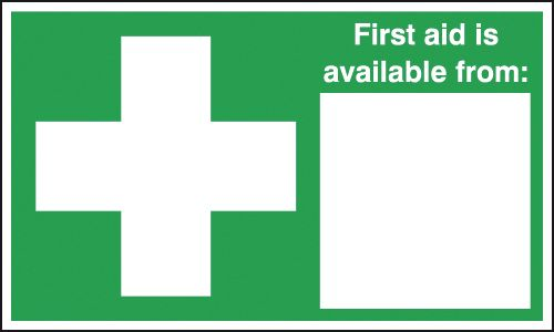 200 x 250 mm first aid is available from deluxe high gloss rigid plastic 1 mm sign