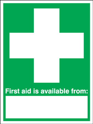 first aid box labels - 400 x 300 mm first aid is available from self adhesive vinyl labels.