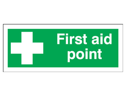 first aid box labels - 100 x 250 mm first aid point self adhesive vinyl labels.
