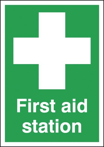 A2 first aid station self adhesive vinyl labels.