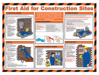 420 x 590 first aid for construction sites