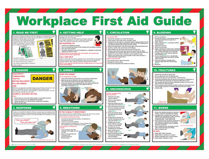 420 x 590 workplace first aid guide