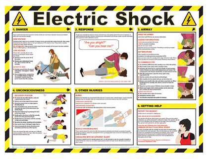 420 x 590 electric shock wallchart