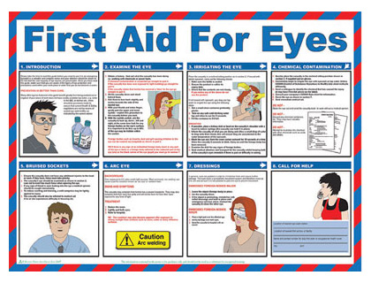 420 x 590 first aid for eyes wallchart