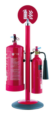 Fire extinguishers - prestigious fire stand chrome