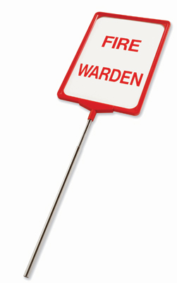 fire warden sign