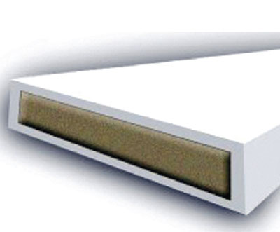 Fire door equipment - 10 mm intumescent seal fire white