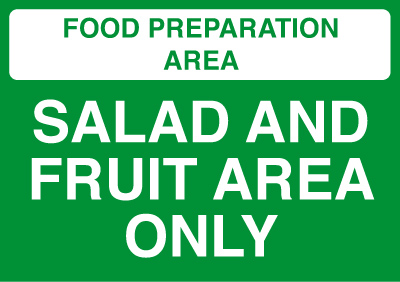 210 x 148 mm (a5) salad and fruit area only