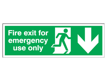 UK Fire Exit Signs - 150 x 450 mm NG photoluminescent fire exit for emergency use nite glo self adhesive class B