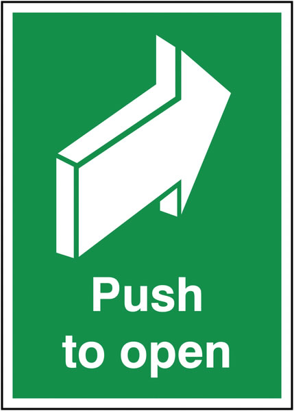 A5 push to open 1.2 mm rigid plastic signs.