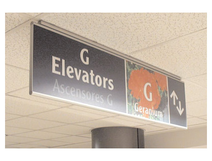 fullview a6 ceiling sign