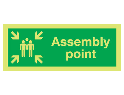 100 x 250 mm NG assembly point nite glo self adhesive class B
