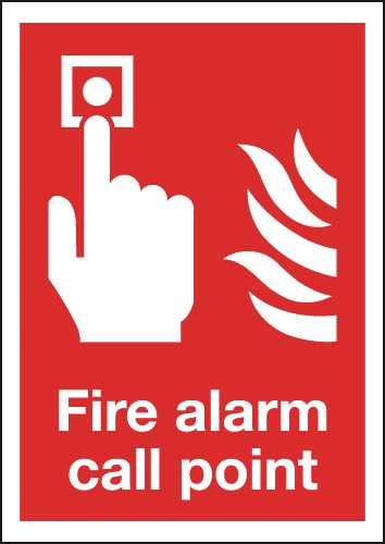 300 x 250 mm fire alarm call point self extinguishing rigid plastic