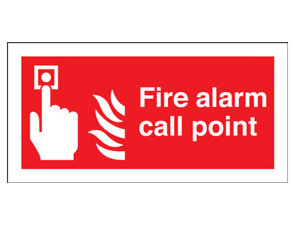 100 x 200 mm fire alarm call point self adhesive self adhesive vinyl labels.