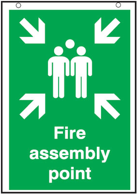 A2 fire assembly point 3 mm foam board signs.