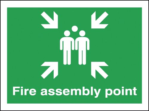 450 x 600 mm fire assembly point foamed rigid plastic 2 mm