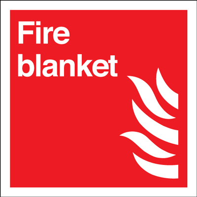 100 x 100 mm NG fire blanket nite glo self adhesive class B