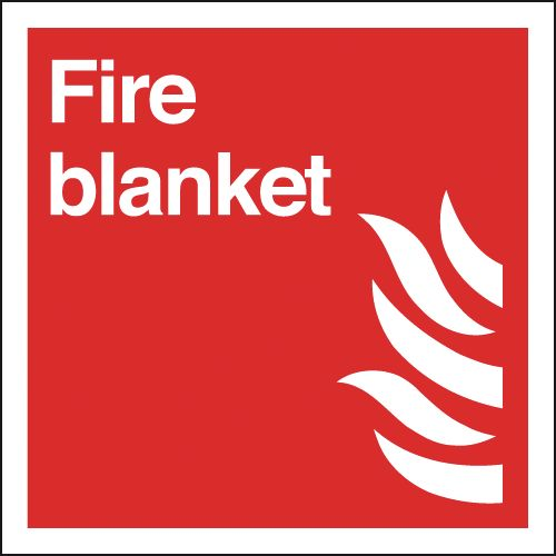 200 x 200 mm Fire Blanket Fire Signs