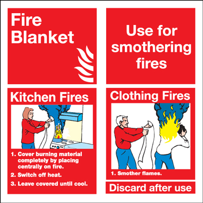 100 x 100 mm NG fire blanket use for smother nite glo self adhesive class B