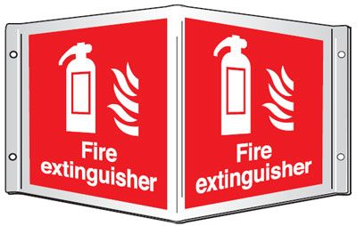 projecting sign fire extinguisher