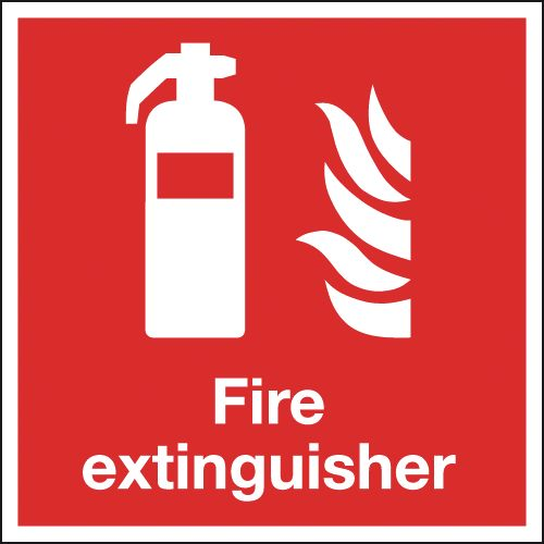 150 x 150 mm NG fire extinguisher symbol nite glo self adhesive class B