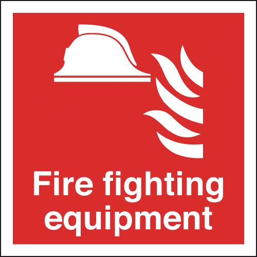 200 x 200 mm fire fighting equipment self adhesive vinyl labels.