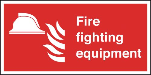 200 x 400 mm fire fighting equipment self adhesive vinyl labels.