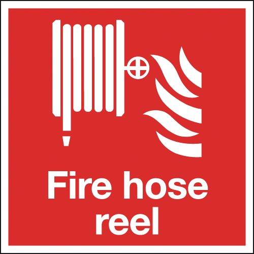 200 x 200 mm NG fire hose reel nite glo self adhesive class B