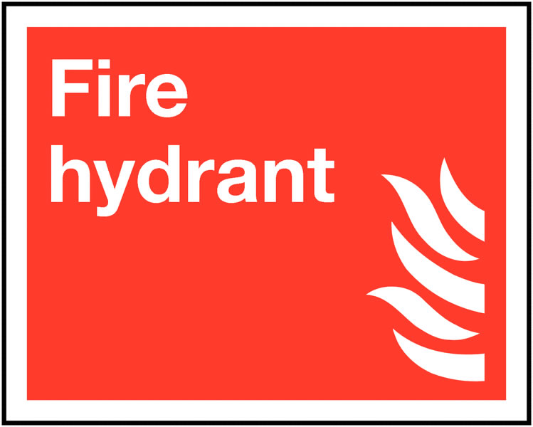 200 x 250 mm fire hydrant self adhesive vinyl labels.