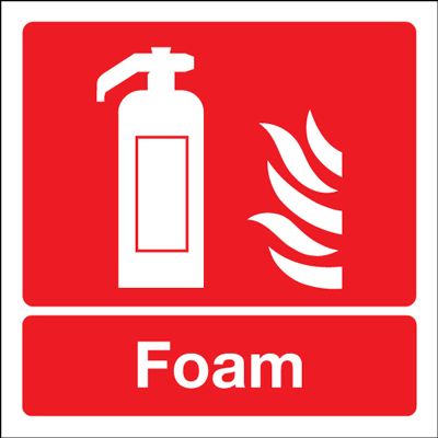 100 x 100 mm NG foam extinguisher symbol nite glo self adhesive class B