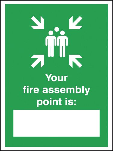 400 x 300 mm your fire assembly point is self adhesive vinyl labels.