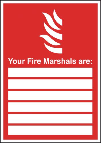 300 x 200 mm your fire marshals are self adhesive vinyl labels.