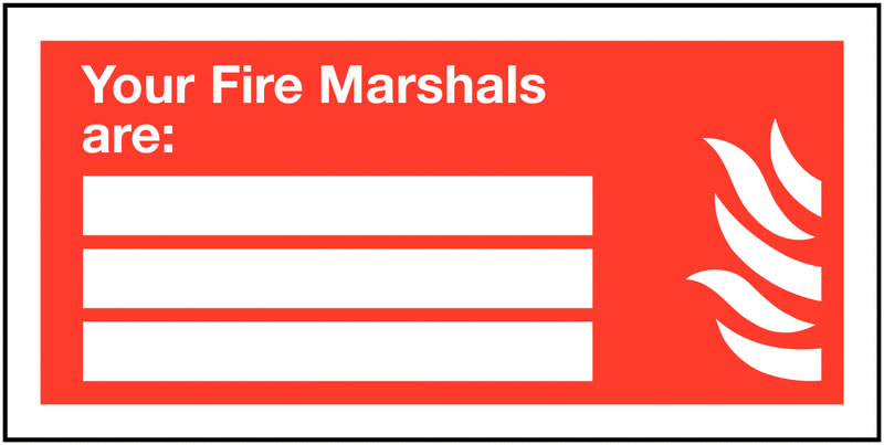 100 x 200 mm your fire marshals are self adhesive vinyl labels.