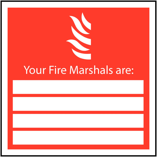 200 x 200 mm your fire marshals are self adhesive vinyl labels.