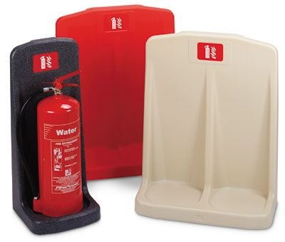 Fire extinguishers - deluxe 1 fire extinguisher stand red