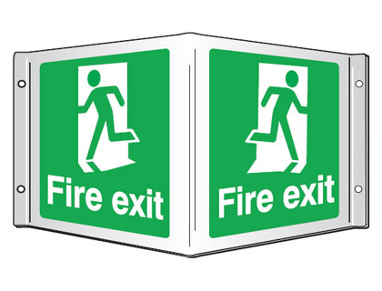 projecting sign fire exit