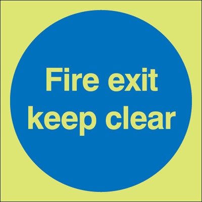 UK Fire Exit Signs - 150 x 450 mm fire exit keep clear 1 mm durable aluminium