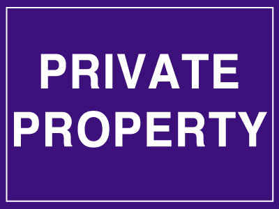 300 x 400 mm private property