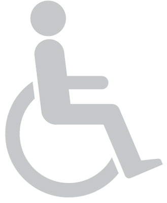 150 x 120 disabled symbol window sign
