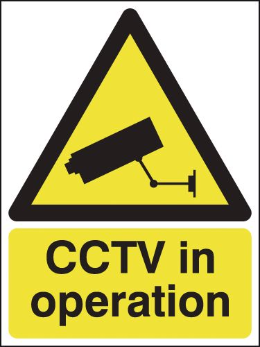 400 x 300 mm Cctv In Operation Safety Signs