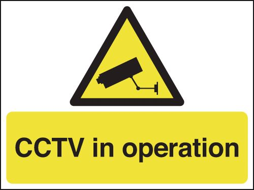 450 x 600 mm Cctv In Operation Safety Signs